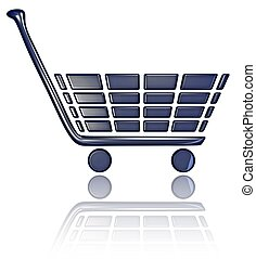 Chicklet Shopping Cart - A 3D shopping cart with reflection...