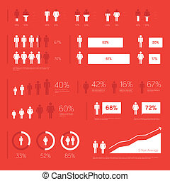Modern Infographic Elements - Modern people infographic...