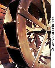 Mill wheel - An old water mill wheel