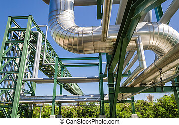Petrochemical pipe line - The petrochemical pipe line in...