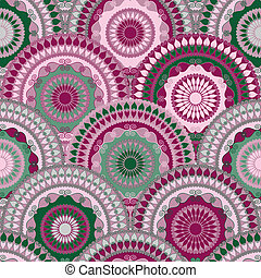 Colorful vintage seamless pattern
