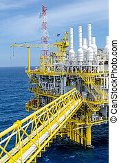 Offshore platform - The offshore platform in south of...