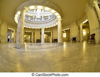State Capital Building - State capital building dome with...