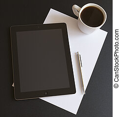 Business Analyzing - Modern workplace with digital tablet...