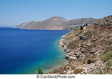 Symi coastline, Greece
