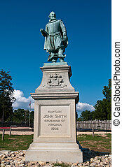 Captain John Smith - Statue at Jamestown, Virginia of...