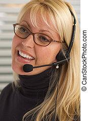 Pretty Businesswoman - Attractive businesswoman talks on her...