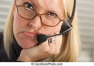 Bored Businesswoman - Attractive businesswoman Bored - talks...