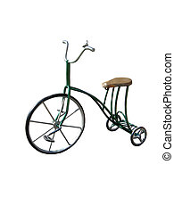 Tricycle isolated on a white background - The image of...