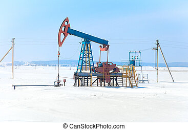 The pump for pumping oil. Siberia, Russia