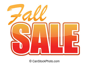 fall sale illustration design over white background