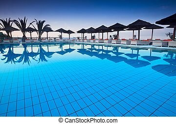 Poolside - Luxury pool at a tourist resort
