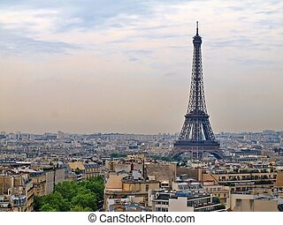 European cities - Paris city objects - Eiffel tower. -...