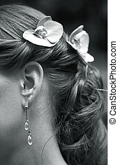 Ear rings - The image of the girl in ear rings