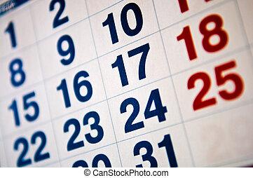 calendar vacations concept