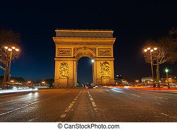 arc de triomphe paris - Famous french landmark , Arc De...