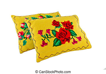 pillows with a pattern - a pillows with a pattern of colored...
