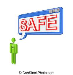 3D, piccolo, persona, OS, finestra, parola, sicuro