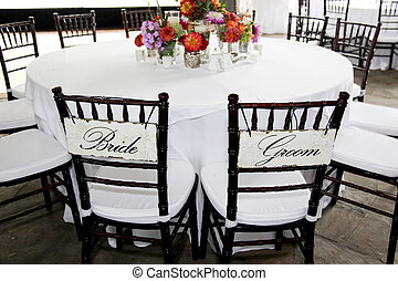 Bride and Groom Chairs at Reception - Chairs for the bride...