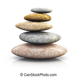 Pile of pebbles for spa therapy - Pile of pebble stones for...
