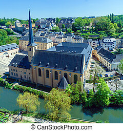 Abbey and St. Ioann Chirch, Luxembourg - Neumuenster Abbey...