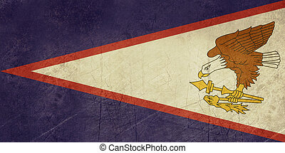 Grunge American Samoa Flag - Grunge sovereign state flag of...