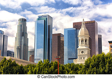 Downtown Los Angeles Skyline - Skyline of Downtown Los...