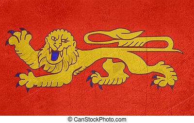 Grunge Aquitaine flag - Grunge Illustration of French...