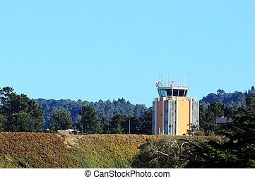 small airport control tower