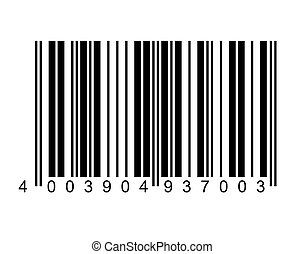 barcode - An illustration of a black and white bar code