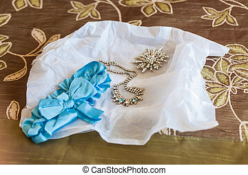 Accessorize - The accessorize of the bride on her wedding...