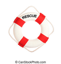 life buoy - Life buoy with the word rescue on it