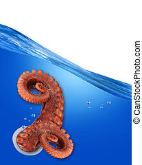 Octopus. - octopus tentacles under water.