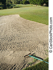 Golf Course Bunker - Abstract of Golf Course Bunker on A...