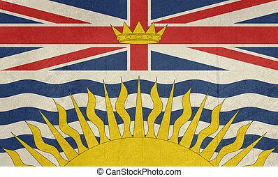 Grunge British Columbia state flag
