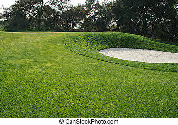 Abstract of Golf Course Bunkers - Abstract of golf course...