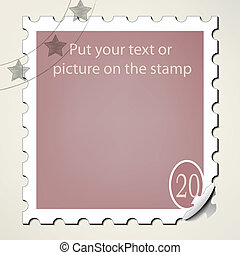 Postage stamp - Put your text or picture on the postage...
