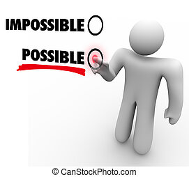 Choose Possible Vs Impossible Positive Attitude Touch Screen...