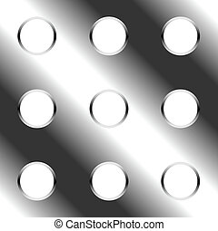 Seamless perforated metal plate
