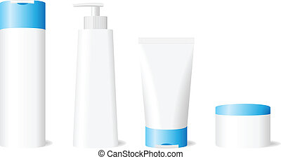 Blank skin care set - Vector illustration of blank skin care...