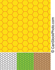 Bee cell shaped seamless pattern.