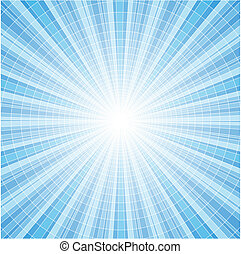Blue radial rays tile background - Abstract blue radial rays...