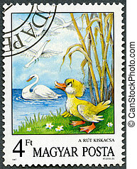 HUNGARY - CIRCA 1987: A stamp printed by Hungary shows the...