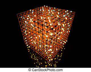 The Grid - 3D rendered Illustration. A 3 dimensional grid.