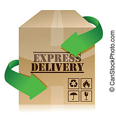 express delivery concept illustration design over white
