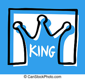 Blue king - Creative design of blue king