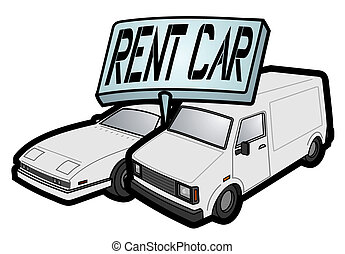 Rent car - Creative design of rent car