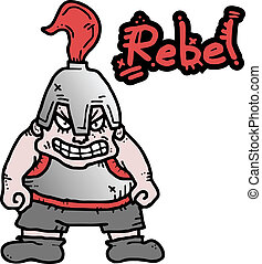Rebel expression  - Creative design of rebel expresision