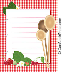 kitchen reminder - an illustration of a kitchen note book...