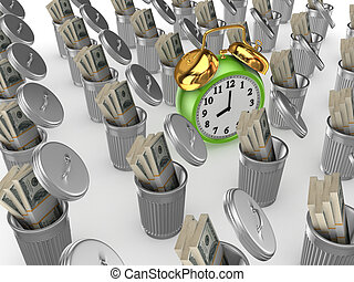 Time managment concept.Isolated on white background.3d...